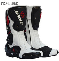 новые длинные туфли оптовых-2018 new leather motorcycle boots Pro -Biker SPEED Racing And calves long boots high quality for riding men women shoes B1001