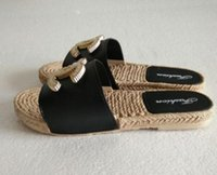 Wholesale string slips - 2018 NEW Sandals Women Flat Slippers Warp Strings Designer Pearl Beach Sandals Ladies Girls Shoes Summer .Free shipping