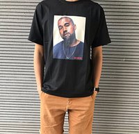 Wholesale photo print shirts for sale - Group buy 2018 Mens Hip Hop T Shirts Summer Street Style Short Sleeve Tees Kanye Photo Printed Tshirt Black Loose O Neck Casual Tops
