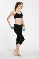 a través de las polainas al por mayor-No ver a través de Atheltics legging Candy Colors Capris para mujeres deportes elásticos Fitness Leggings Slim Running Gym pantalones tamaño 2-12