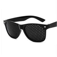 Wholesale pin hole eyeglasses for sale - Group buy Anti myopia Pinhole Glasses Eye Exercise Eyesight Improve Natural Healing vision Care Eyeglasses Pin hole Sunglasses