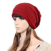 Wholesale oversized beanie cap for sale - Group buy Hot Unisex Women Winter Beanie Knit Crochet Ski Cap Oversized Slouch Hat