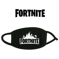 Wholesale dust free face masks online - 12 Styles Fortnite Cosplay mouth Masks Teenager Cotton Black Dust proof Fortnite Face Masks Big Children Cartoon Accessories Free DHL