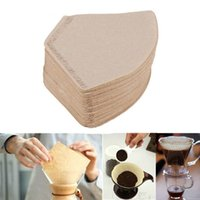 Wholesale paper tea - 100pcs lot 9.5~10.5cm Dia Sector Wooden Colors Paper Brewer V60 filter 102 Coffee Filters Teabags