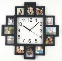 neue design-bilderrahmen großhandel-Neue DIY Wanduhr Modernes Design DIY Bilderrahmen Uhr Kunststoff Kunst Bilder Uhr Einzigartige Klok Home Decor Horloge
