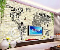 Wholesale map japan - 3d Wall Murals Wallpaper Digital map Large Wallpaper For Walls 3 d Living room Bedroom TV Sofa Background Decoration