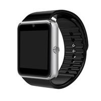 tf часы цена оптовых-Дешевые цена Smartwatch gt08 Bluetooth Smart Watch телефоны поддержка GSM 32 ГБ TF карта сенсорный экран smartwatch Bluetooth часы по dhl