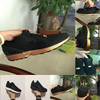 promo code 2e670 46cc0 new black gold zx flux flattie Breathable mesh fabric men women sports  casual shoes running shoes size 36-45