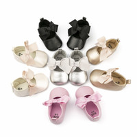 Wholesale moccasins baby booties for sale - Group buy Riband Butterfly Sapatinhos Para Menina Moccasins Newborn Girls Booties for Babies Shoes Sne Baby Bed Shoes First Prewalk