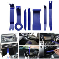Wholesale panel removal tool - 7pcs set Hard Plastic Auto Car Radio Panel Interior Door Clip Panel Trim Dashboard Removal Opening Tool Set Car Repair Tool CCA9434 50set