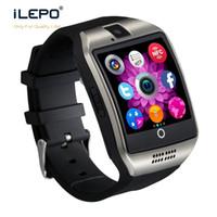 ingrosso i migliori telefoni mobili di orologio-Il la cosa migliore Smartwatch Q18 di Bluetooth Smart Phone degli orologi di sostegno SIM Card NFC Smartwatches di salute della connessione per i telefoni cellulari di xiaomi iphoneX