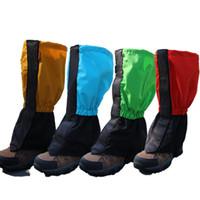 ingrosso calza la copertura più calda-Unisex Snow Boots Set Leggings Leggings Impermeabile antivento Gambali calde Leggings Shoe Cover Uomo e Stivali da donna