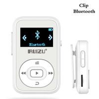 bluetooth mini kaydedici toptan satış-Spor Klip Bluetooth Mp3 Çalar 8 GB Mini Taşınabilir Kayıpsız Müzik Çalar FM radyo Kaydedici ile destek kadar 64 GB TF Kart Beyaz