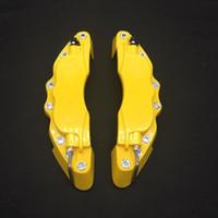 ingrosso pinze freno-Spedizione gratuita M taglia 16-17 pollici pneumatico 3D pinza copre Fit for Pinze freno copre ABS Caliper anteriore Kit coperchio disco anteriore