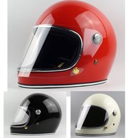 Hot selling FPR full Face Motorcycle Vintage helmet for dirt bike Cafe racer casco mocular cool custom motocross cycling capacete chopper cruiser