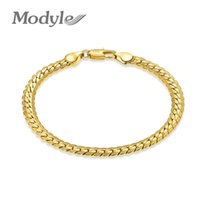 Wholesale thick silver chain bracelets for sale - Group buy Modyle Brand Bracelet Men Women Jewelry Trendy Black Silver Gold Color CM MM Thick Cuban Link Chain Bracelets