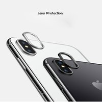 Wholesale iphone circle case - Lens Protector Cap For iPhone X 8 7 Plus Aluminum Alloy Metal Protector Circle For Rear Camera Cover Case Ring With Retailpackage Aicoo