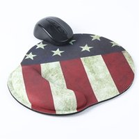 Wholesale Pattern Mouse - Soft Thicken PC Wrist Mouse Pad Mat Star Flag Pattern For Optical Trackball Mouse Mice Pad