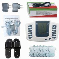 ingrosso pantofole elettriche stimolanti-Stimolatore elettrico Full Body Relax Muscle Digital Massager Pulse TENS Agopuntura con Terapia Slipper 16 Pz Elettrodi Pastiglie