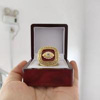 cajas de madera para el envío al por mayor-2018 venta al por mayor 1969 Kansas City Chiefs Championship Ring con caja de madera ventilador regalo envío de la gota
