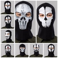 Wholesale mask designs red for sale - Group buy 12 design Masks Skull Costume Outdoor CS Bicycling Tactical Full Face Mask Cosplay Mask Hat Mens Panel Tactical mask KKA4547