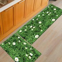 natur toilette großhandel-Moderne Küche Boden 3D Gedruckt Natur Rutschfeste Matte Fußmatte Schlafzimmer Wc Kinderzimmer Teppich Manchine Waschbar Decke