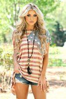 Wholesale dresses america - New Fashion America Flag Printed Dress Summer Casual Loose Party Club Short Sleeve Mini Beach Dress
