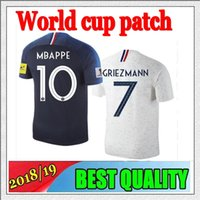 Wholesale National Green - 2018 2019 national maillot De foot Frances POGBA GRIEZMANN CABAYE BENZEMA PAYET soccer jersey World Cup shirts 2019 Mbappé football jersey