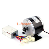 Wholesale brush dc motor - 24V 250W Electric High Speed DC Motor With Controller Electric Mini Scooter Brushed Motor And Regulator Belt Drive Motor Kit