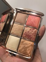 colorete de reloj de arena al por mayor-Venta al por mayor Hourglass 6 color cara rubor paleta resaltador contorno rubor cosméticos paleta