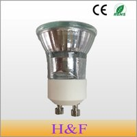 галогенные точечные лампы оптовых-HoneyFly 3pcs Dimmable Gu10 Halogen Lamp 35W +C(35mm) 230V Mini Halogen Bulb 3000K Lamba Spot Light GU10 35mm Halojen