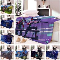 Wholesale plush fleece fabric online - New D Fortnite Game Design Blanket Short Plush Throw Blanket Soft Warm Bed Sheets Quality At Factory Price