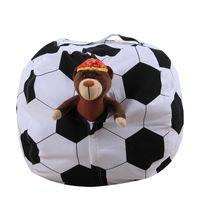 función de fútbol al por mayor-Bolsa de almacenamiento de juguetes de felpa de lona de fútbol balompié rugby forma de múltiples funciones de peluche bolsas de frijol modle 18 pulgadas 28cw ff