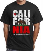 ingrosso direzioni di progettazione-Magliette con detti O - Neck Corta Classic California T Shirt Cali Logo Design per uomo