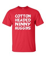 film elves achat en gros de-COTON TÊTE DE NINNY MUGGINS Elfe du film Will Ferrell Funny Men Tee Shirt 580