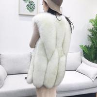 chaleco de visón mujer al por mayor-Otoño e invierno nuevo estilo de alta imitación de piel de visón chaleco chaqueta mujeres abrigo de piel sintética