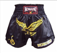 Wholesale muay thai shorts free shipping resale online - Suotf Spring Mma Boxing Muay Thai Short Authentic Muay Thai Shorts Boxing Training Shorts Red Black Eagle Models