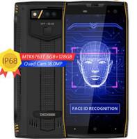 Wholesale digital waterproof player resale online - DOOGEE S50 IP68 Waterproof Smartphone mAh Fast Charge Display MTK6763T GHz Octa Core GB GB MP Quad Cameras