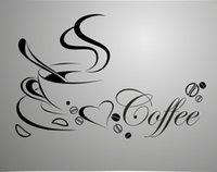 ingrosso disegni di vinile-Tazza da caffè di nuova concezione per adesivi per la casa / cucina impermeabile e rimovibile decalcomanie per la decorazione di pareti in vinile. Adesivi in vinile / decalcomanie