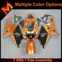 motocicletas gsxr plásticos venda por atacado-23 cores + presentes laranja preta carenagem da motocicleta para Suzuki GSXR 1000 2000 2001 2002 ABS kit de painéis de motor de plástico