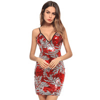 Wholesale women clothing online - Youthful Popularity Sleeveless Buttocks Bridesmaid Women Clothes Sling Sequins Designer Dress High Waist One step Casual Dresses