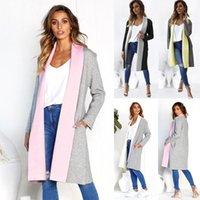 ingrosso donna trincea calda-2018 Plus Size Women's Lapel Jumper Cardigan allentati Ladies Duster Trench Coat Cotton Imitazione a maniche lunghe Abbigliamento caldo