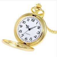 Wholesale cheap bronze necklace online - Hot sale New pocket watch Chain Necklace Pocket Watch Crown Unisex Fashion Bronze Temperament Cheap Luxury pocket Women Dress