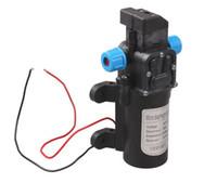 mikro pompalar 12v toptan satış-DC 12 V 60 W Mikro Elektrikli Diyafram Su Pompası Otomatik Anahtarı 5L / min Yüksek Basınçlı Araba Yıkama Sprey Su Pompası 5L / min