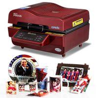 telefongehäuse drucker großhandel-3D Subl Vakuum Maschine, Subl / Transferpresse Maschine, Becher / T-Shirt / Handy Fall Drucker, Cup / Digitaldruckmaschine