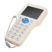 Wholesale rfid copier online - 10 Frequency RFID Copier ID IC Reader Writer Copy with MHz KHz Key Fob HID UID Card