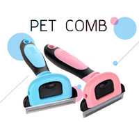 Wholesale detachable brushes - Hight Quality Pet Grooming Brush Tool Hair Remover Cat Brush Pet Grooming Tools Detachable Clipper Attachment Pet Trimmer Combs for Dog Cat