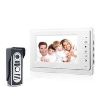 moniteurs de porte-sonnette vidéo achat en gros de-7 Moniteur Couleur Interphone Vidéo Interphone Sonnette Système Interphone IR Interphone Interphone