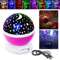 Wholesale rotating lights for kids for sale - Group buy Colorful Constellation Ceiling Projector Night Light Lamp Moon Stars Sky Rotating LED Lamp Romantic For Baby Kids Lover Gift NNA571