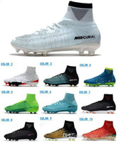 Wholesale free mercurial superfly online - Men ACC Mercurial Superfly V CR7 FG Soccer Shoes High Quality Football Shoes Mens Outdoor Soccer Cleats Cheap Soccer Boots